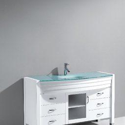 Agate 48 Inch White Vanity