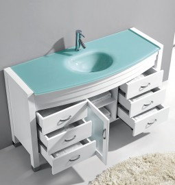 Agate 48 Inch White Vanity