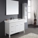 Almandine 48 Inch Single Sink White Vanity