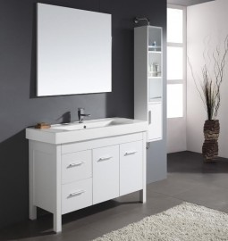 Almandine 48 Inch Single Sink White Vanity