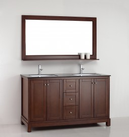 Amazonite 61 Inch Warm Brown Vanity