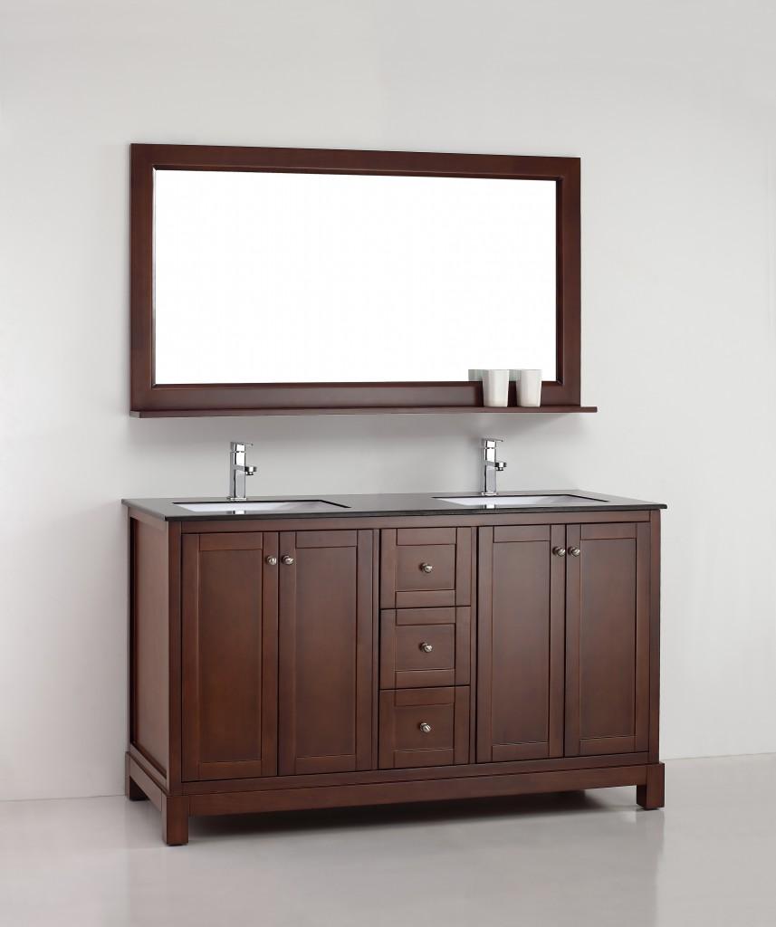 Amazonite 61 Inch Warm Brown Vanity