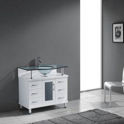 Blue Topaz 32 Inch White Vanity