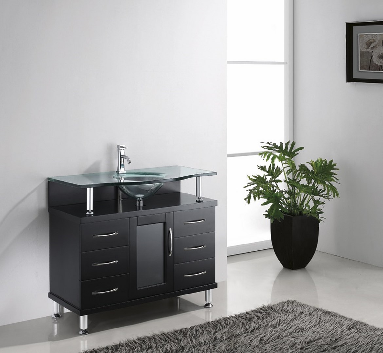 Blue Topaz 32 Inch Espresso Vanity Ak Trading Home Options