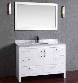 Cygnas 48 Inch White Vanity