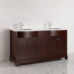 Linden 63 Inch Warm Brown Vanity