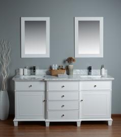Lyra 72 Inch White Vanity 1