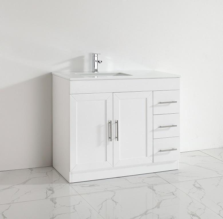 42 inch white vanity