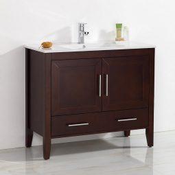 Quartz 40 Inch Warm Brown Vanity