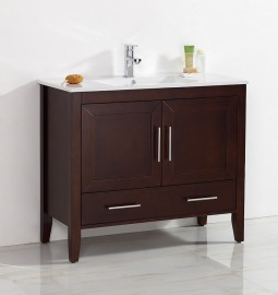 Quartz 40 Inch Warm Brown Vanity
