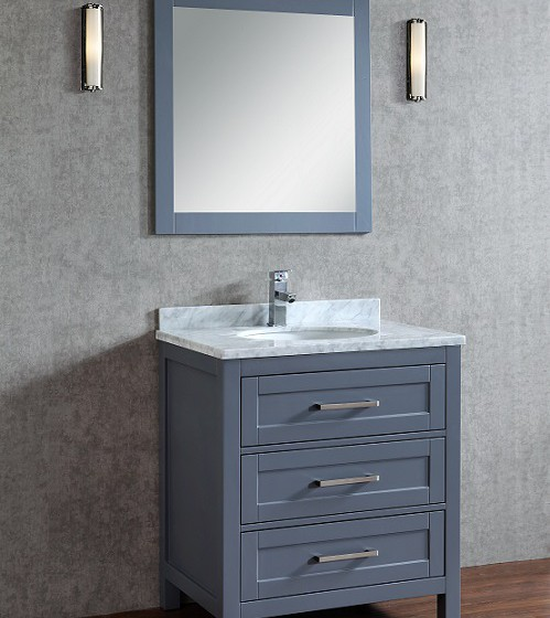 Toscana 30 Inch Charcoal Grey Vanity Ak Trading Home Options