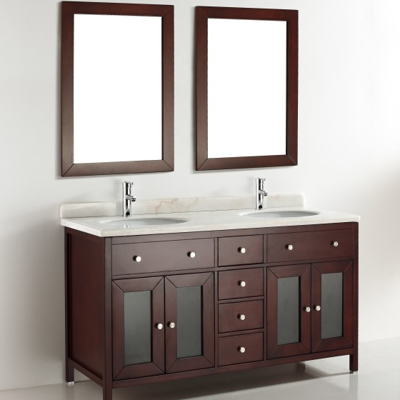 Aspen 60 Inch Warm Brown Vanity