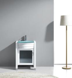 Bixbite 24 Inch White Glass Vanity 1