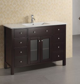 Chrysoberyl 48 Inch Warm Brown Vanity
