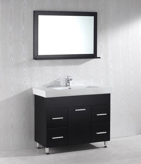 Crystal 40 Inch Black Vanity
