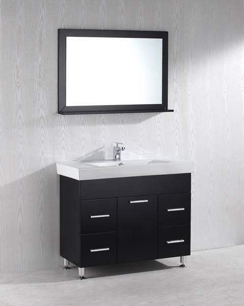 Crystal 40 Inch Black Vanity