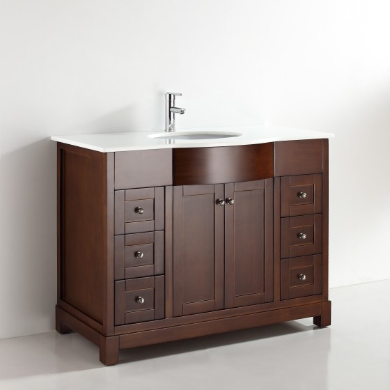 Elm 47 Inch Warm Brown Vanity
