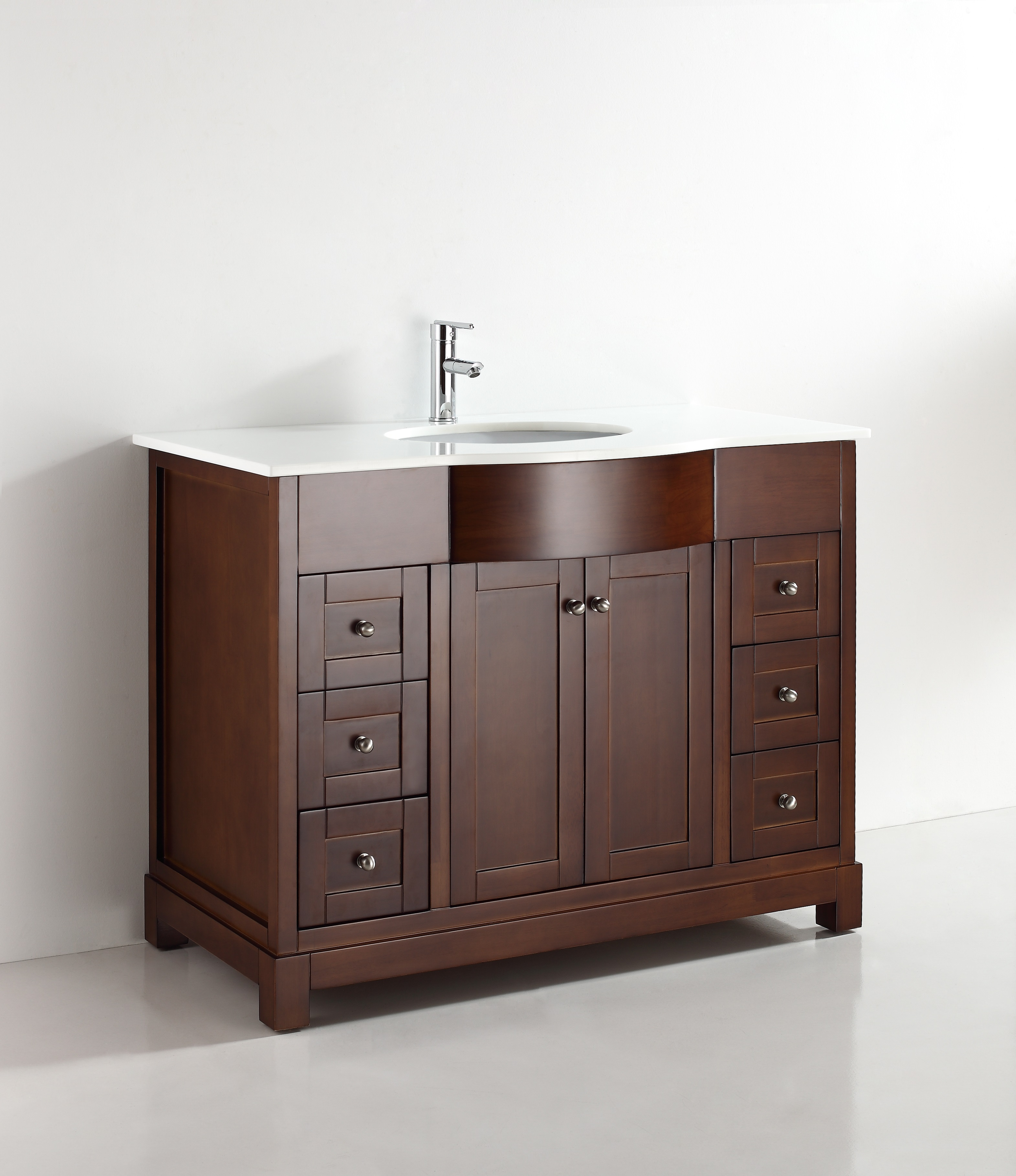 Elm 47 Inch Warm Brown Vanity Ak Trading Home Options