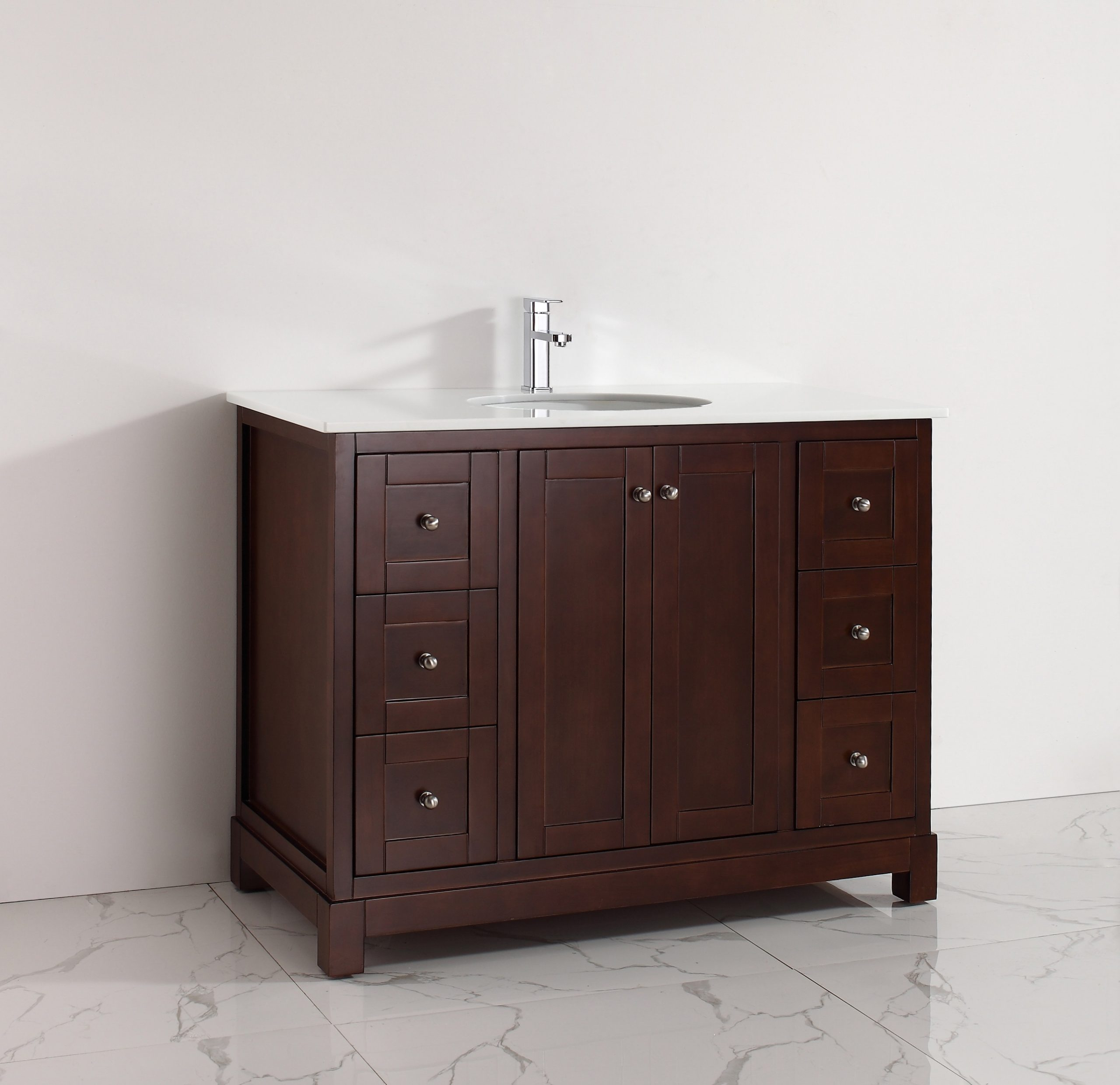 Hematite 48 Inch Warm Brown Vanity