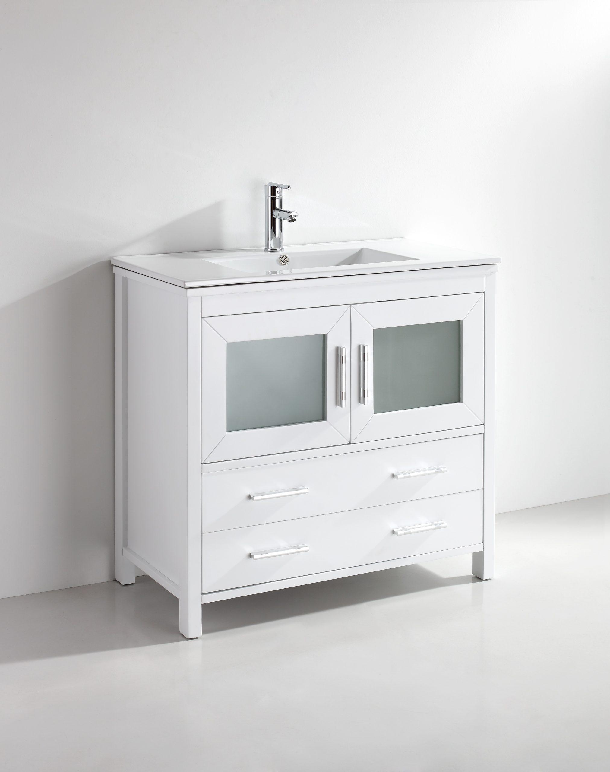 Kuroit 36 Inch White Vanity