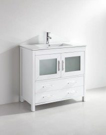 Kuroit 40 Inch White Vanity