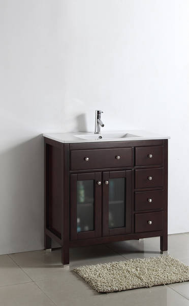 Sapphire 36 Inch Warm Brown Vanity Ak Trading Home Options