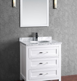 Toscana 30 Inch White Vanity (2)