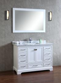 Lir 60 Inch White Vanity