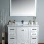 Lir 60 Inch White Vanity 2