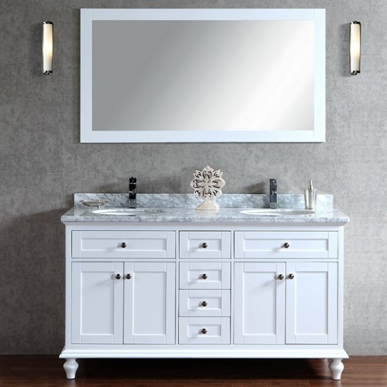 Pictor 60 Inch White Vanity (1)