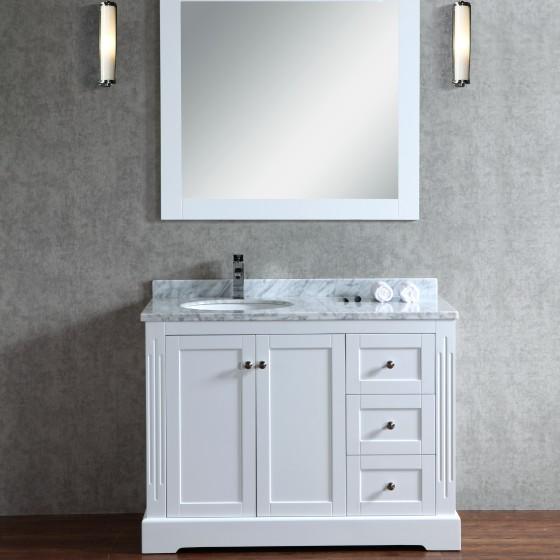 Octans 45 Inch White Vanity