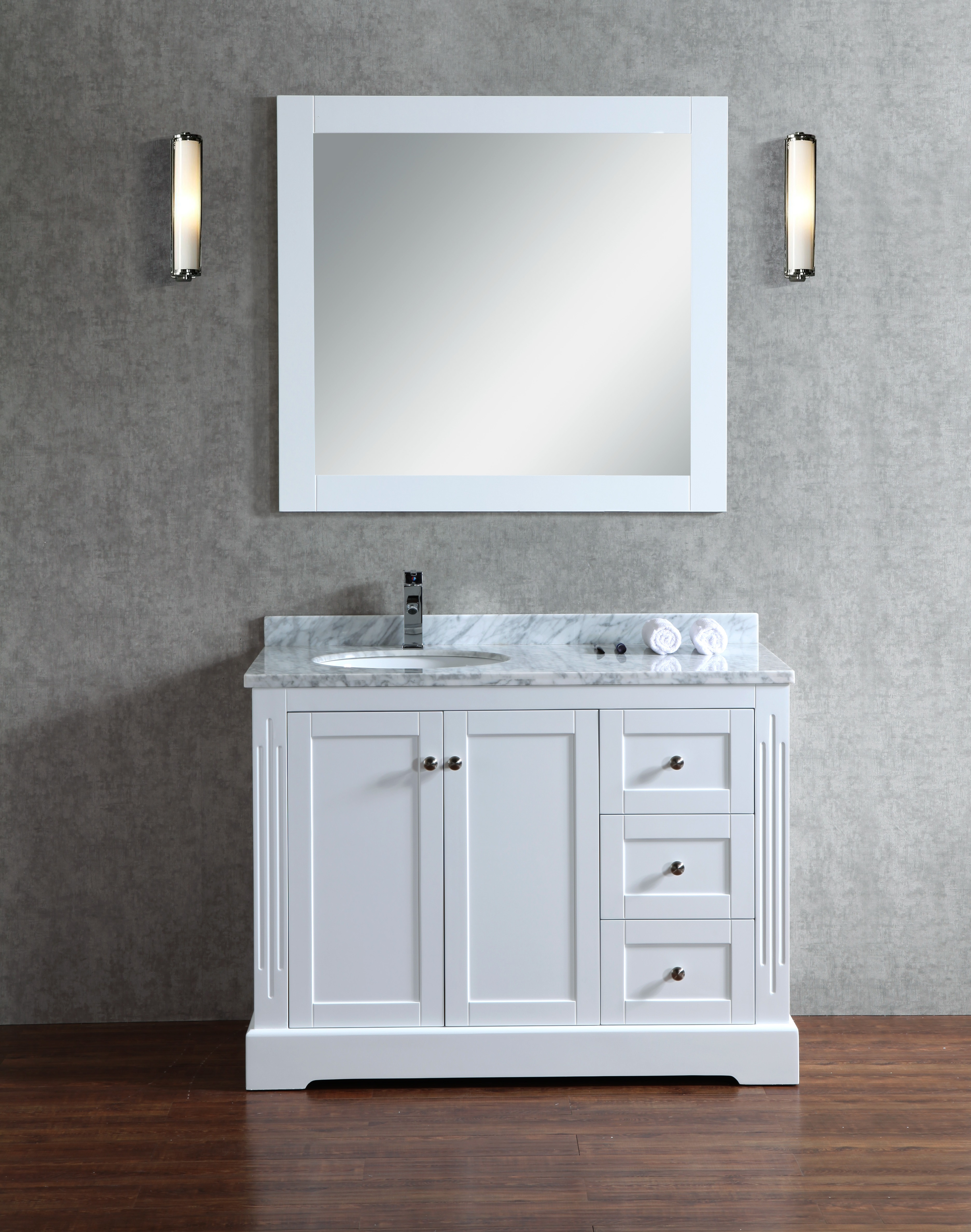 Octans 45 Inch White Vanity Ak Trading Home Options