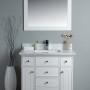 Lyra 36 Inch White Vanity 1