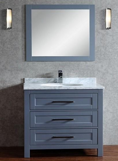 Toscana 36 Inch Charcoal Grey Vanity