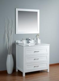 Toscana 36 Inch White Vanity 1