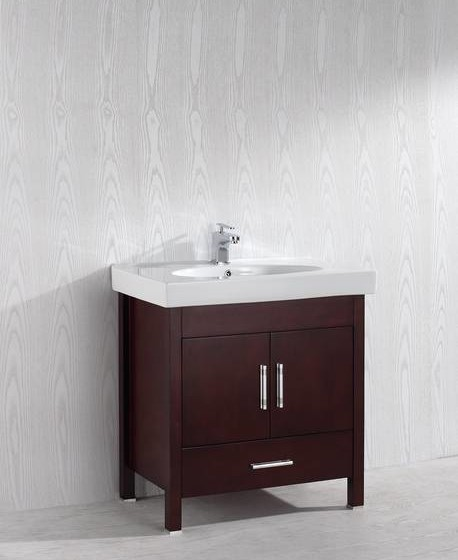 Melange 32 Inch Warm Brown Vanity