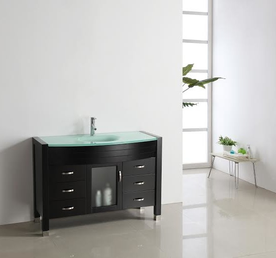 Agate 48 Inch Espresso Vanity