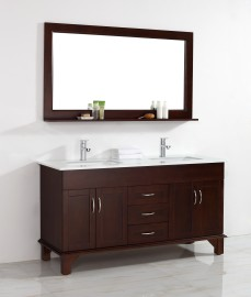 California Onyx 72 Inch Warm Brown Vanity