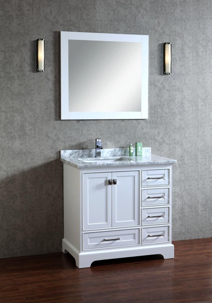 Lir 36 Inch White Marble Vanity