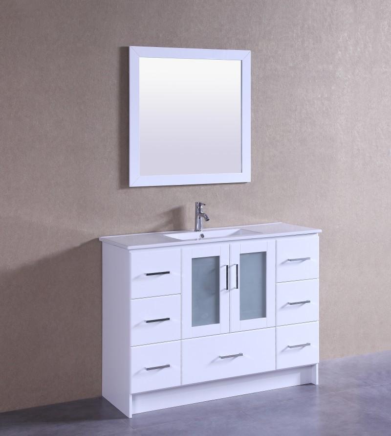 Violet 48 Inch White Vanity (1)