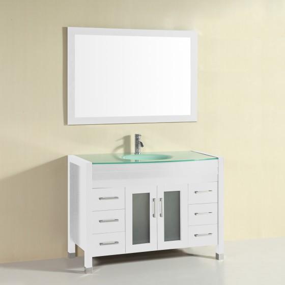 Bluebell 48 Inch White Vanity 1