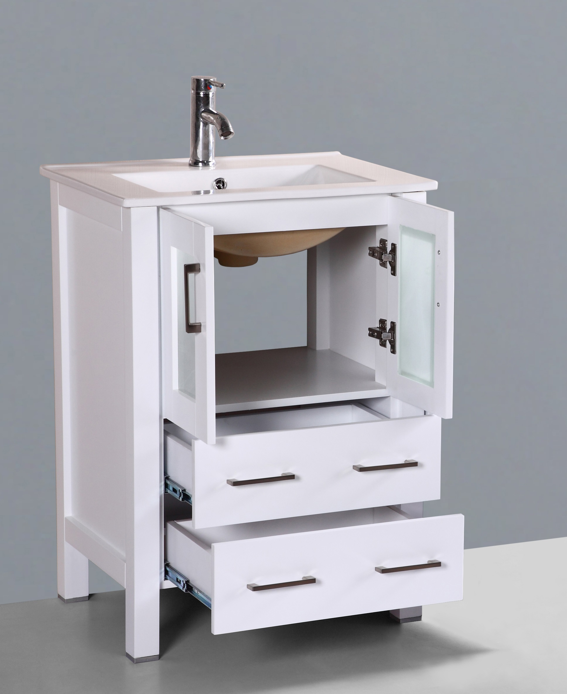 daisy 24 inch white vanity ak trading home options. Black Bedroom Furniture Sets. Home Design Ideas