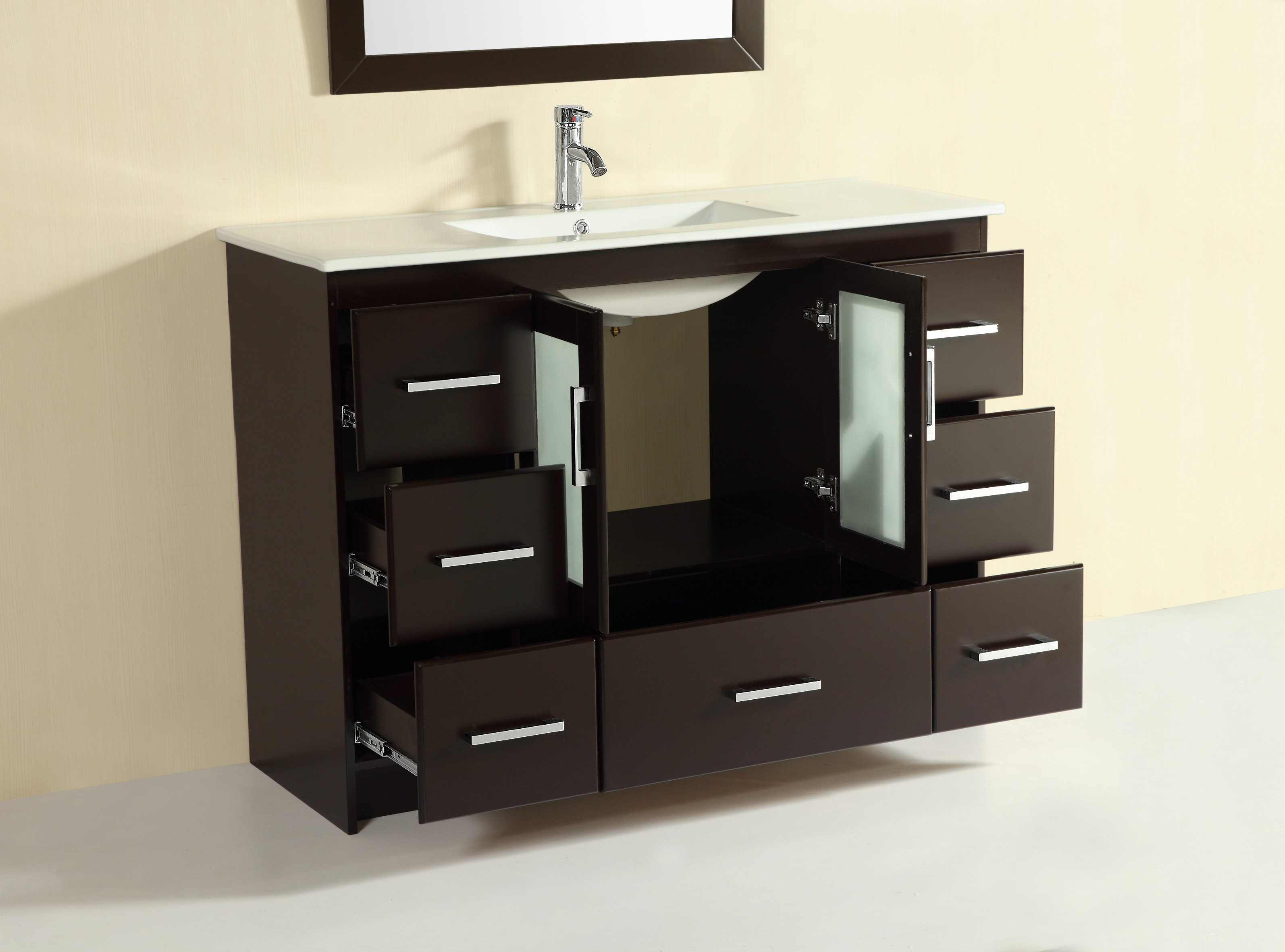 Violet 48 Inch Espresso Vanity Ak Trading Home Options