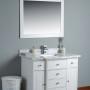 Lyra 42 Inch White Marble Vanity 1