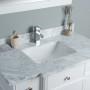 Lyra 42 Inch White Marble Vanity 2