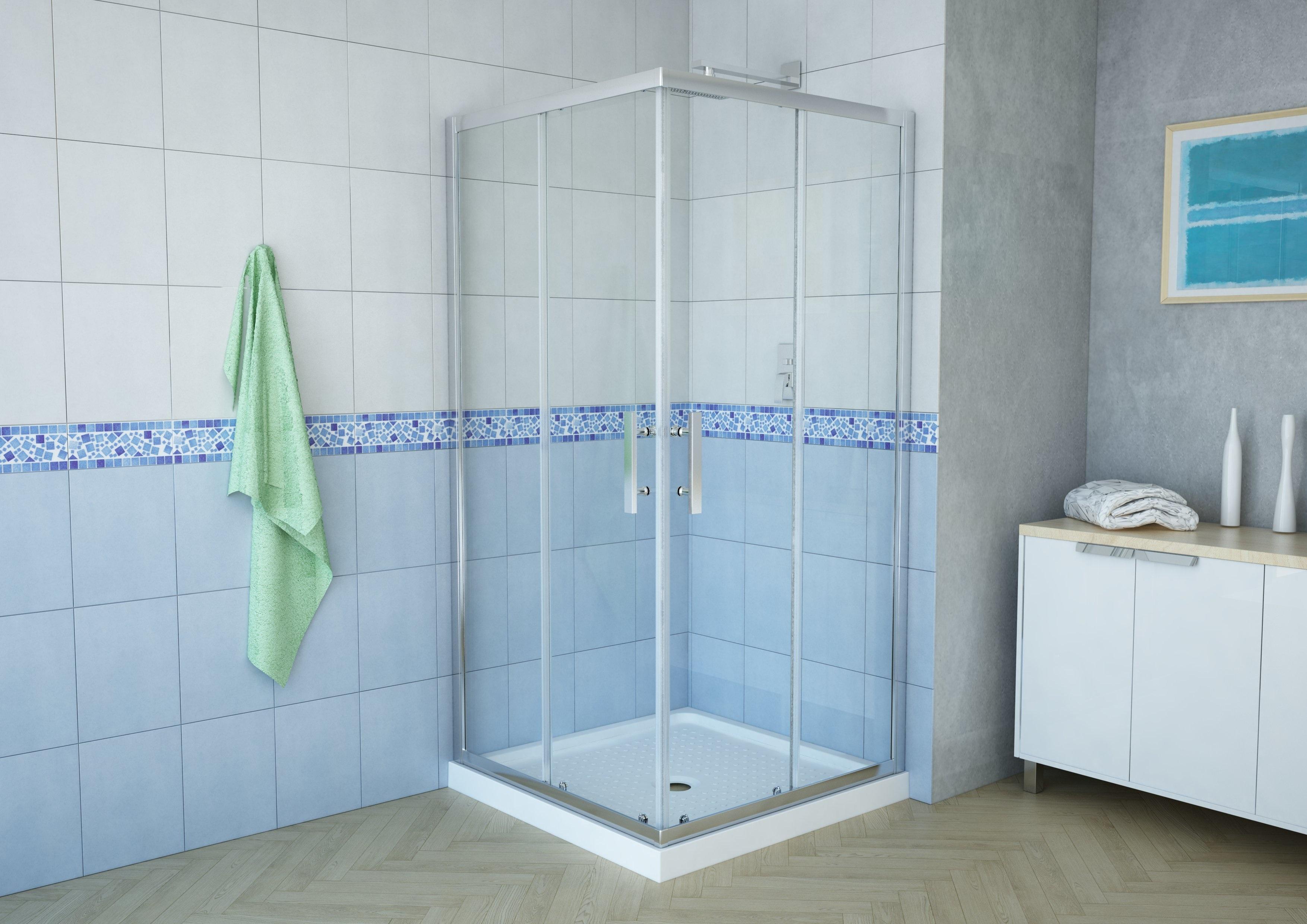 "Delta 38"" Square Corner Shower Enclosure | AK Trading Home Options"