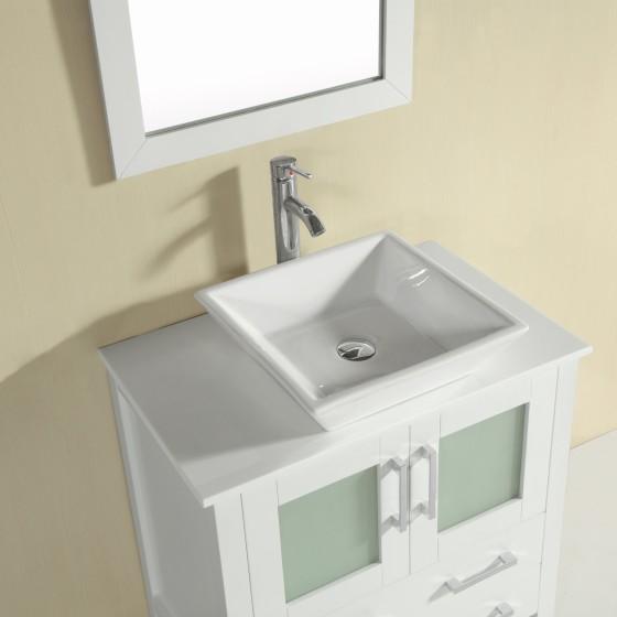 Azalea 30 Inch White Vanity 1