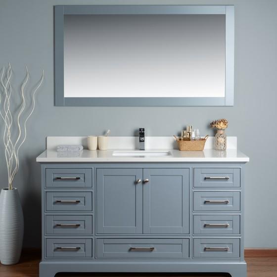 Lir 60 Inch Grey Vanity 1