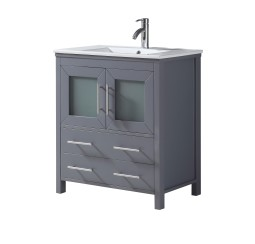 Kuroit 30 Inch Charcoal Grey Vanity 1