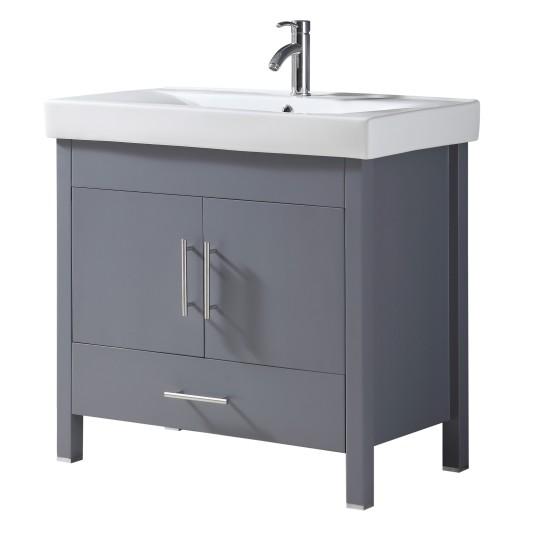 Melange 36 Inch Charcoal Grey Vanity 3